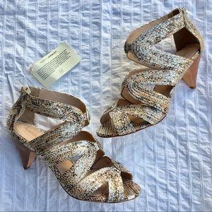 Rebecca Minkoff metallic heels